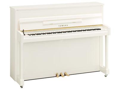 ヤマハアップライトピアノ b113-PWH(ホワイト鏡面ツヤ出し)