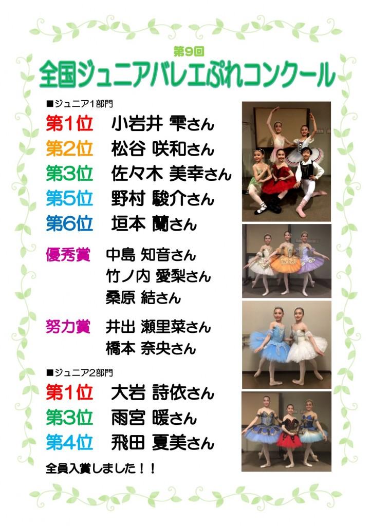 第9回全国ジュニアバレエぷれコンクール