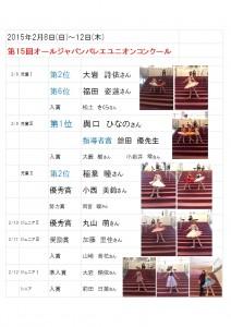 2015オールジャパンバレエユニオンコンクール