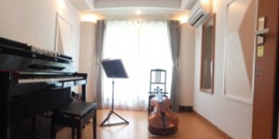 チェロとフルートのためのレッスン・練習室