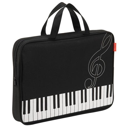 Piano line ピアノライン ファスナーつきレッスントート