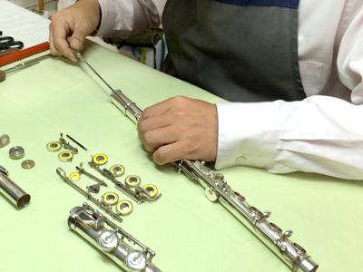 管楽器の修理