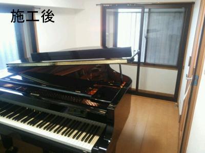 グランドピアノ1台のための防音室(マンション)2