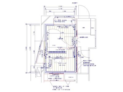 グランドピアノ1台のための防音室(マンション)図面