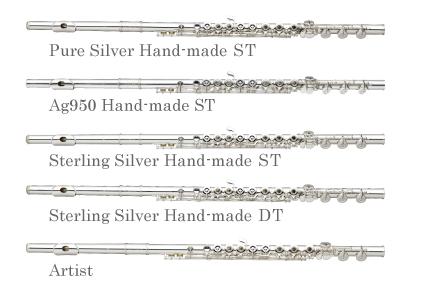 サンキョウフルート試奏会 PureSilverHand-madeST、Ag950Hand-madeST、SterlingSilverHand-madeST、SterlingSilverHand-madeDT、Artist