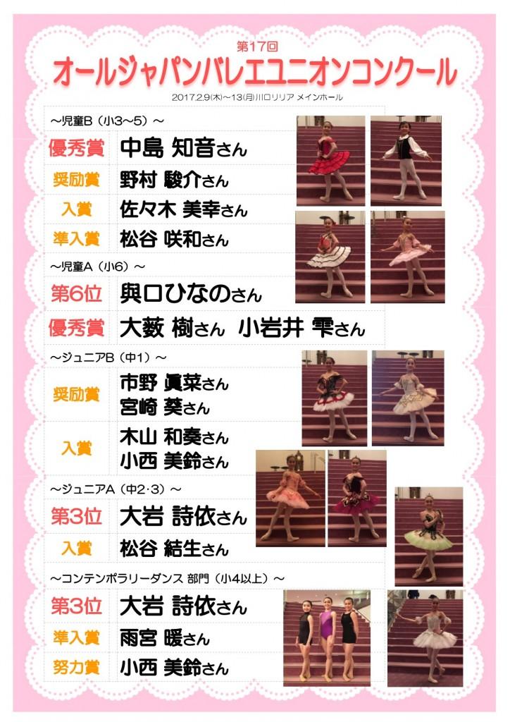 第17回オールジャパンバレエユニオンコンクール