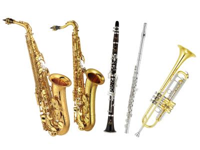 サックス、フルート、トランペット、クラリネット、憧れの管楽器がお買い得です。